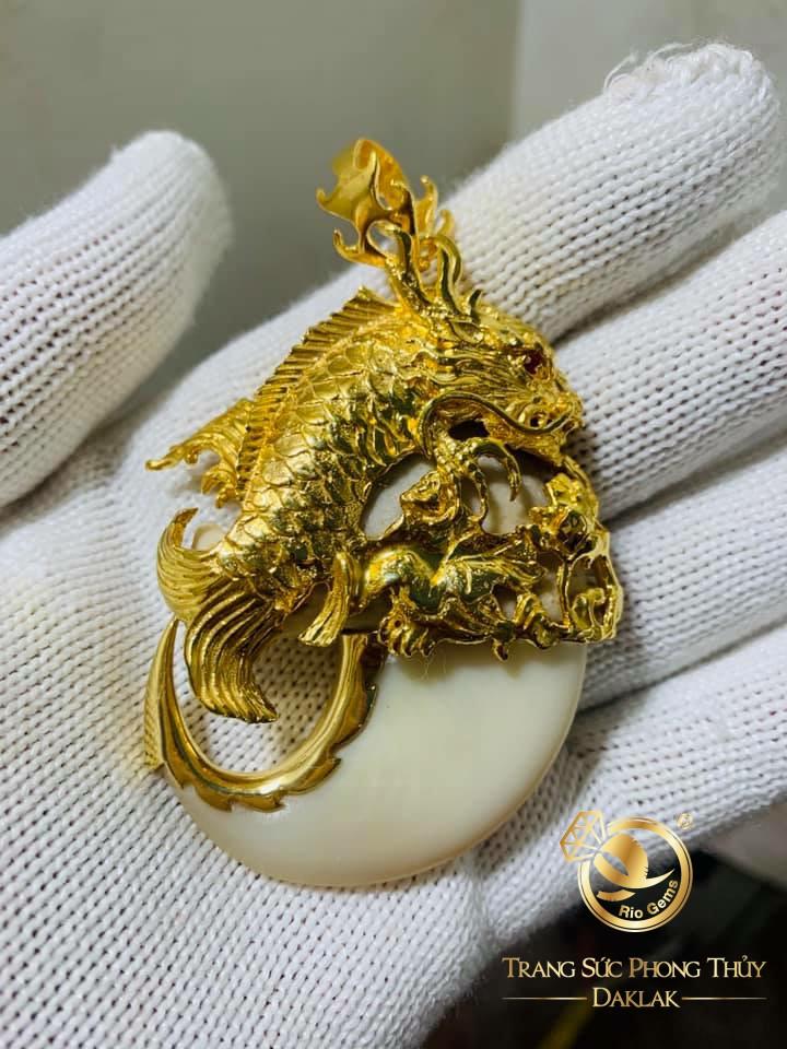 Bộ dây chuyền vàng mắt xích - móng cọp phong thủy