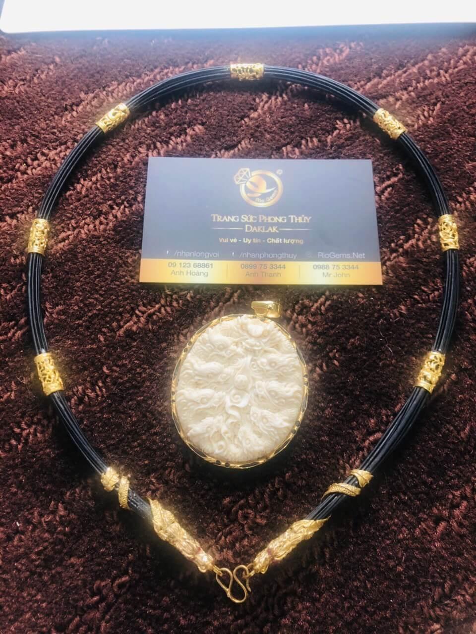 Bộ vòng cổ lông voi 7 đốt Rồng đúc hợp mệnh mộc