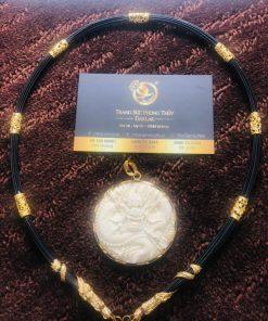 Bộ vòng cổ lông voi 7 đốt Rồng đúc hợp mệnh thủy