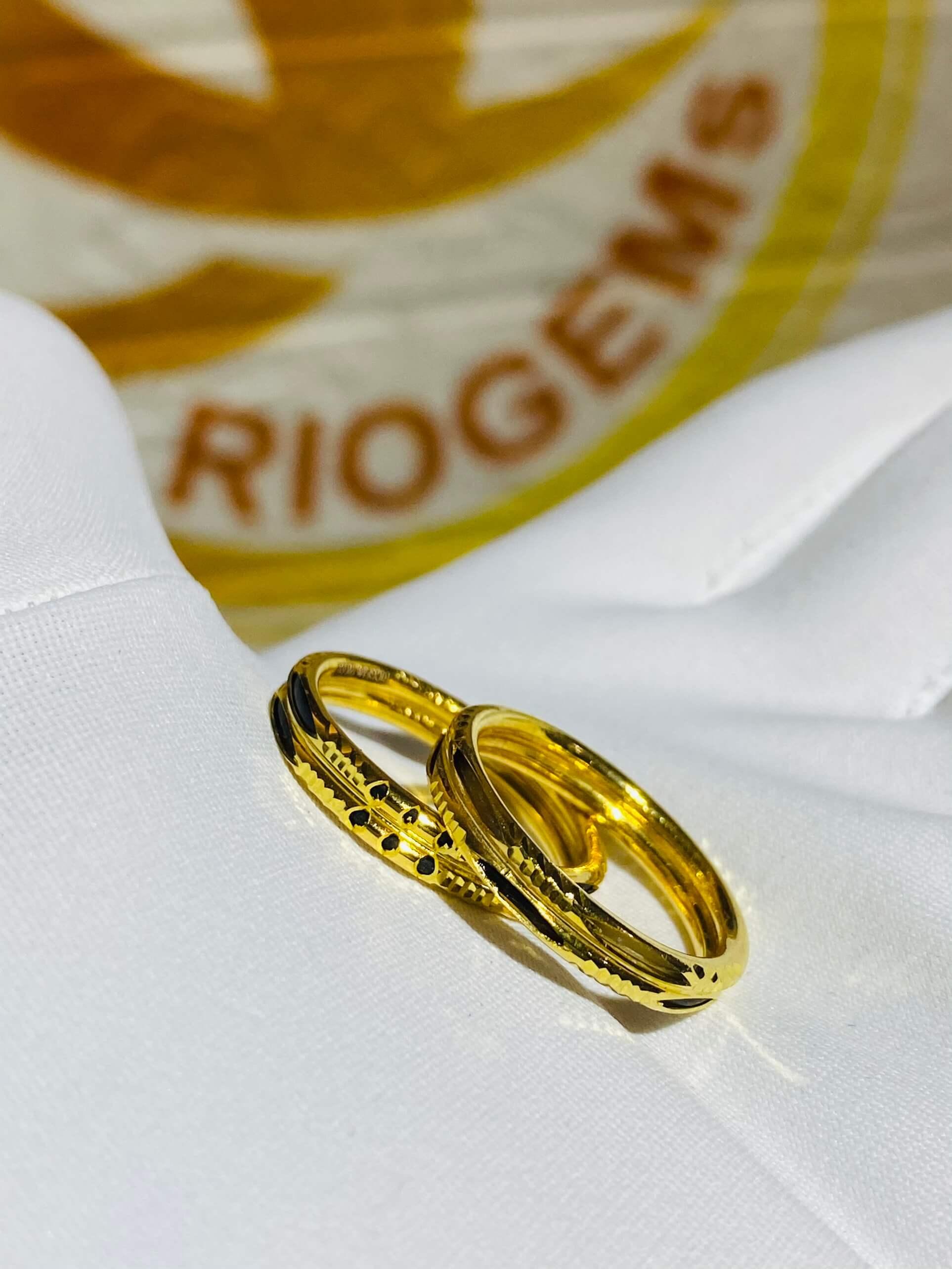 Cặp nhẫn Lông Voi kép hợp mệnh mộc