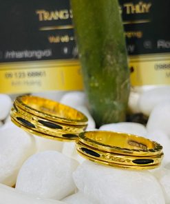 Cặp nhẫn Lông Voi xoay luồng 1 - 2 sợi Lông Voi được gia công chắc chắn