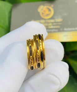 Cặp nhẫn Lông Voi xoay luồng 1 - 2 sợi Lông Voi được gia công tinh xảo