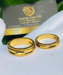 Cặp nhẫn Lông Voi xoay luồng 1 - 2 sợi Lông Voi được gia công tỉ mỉ