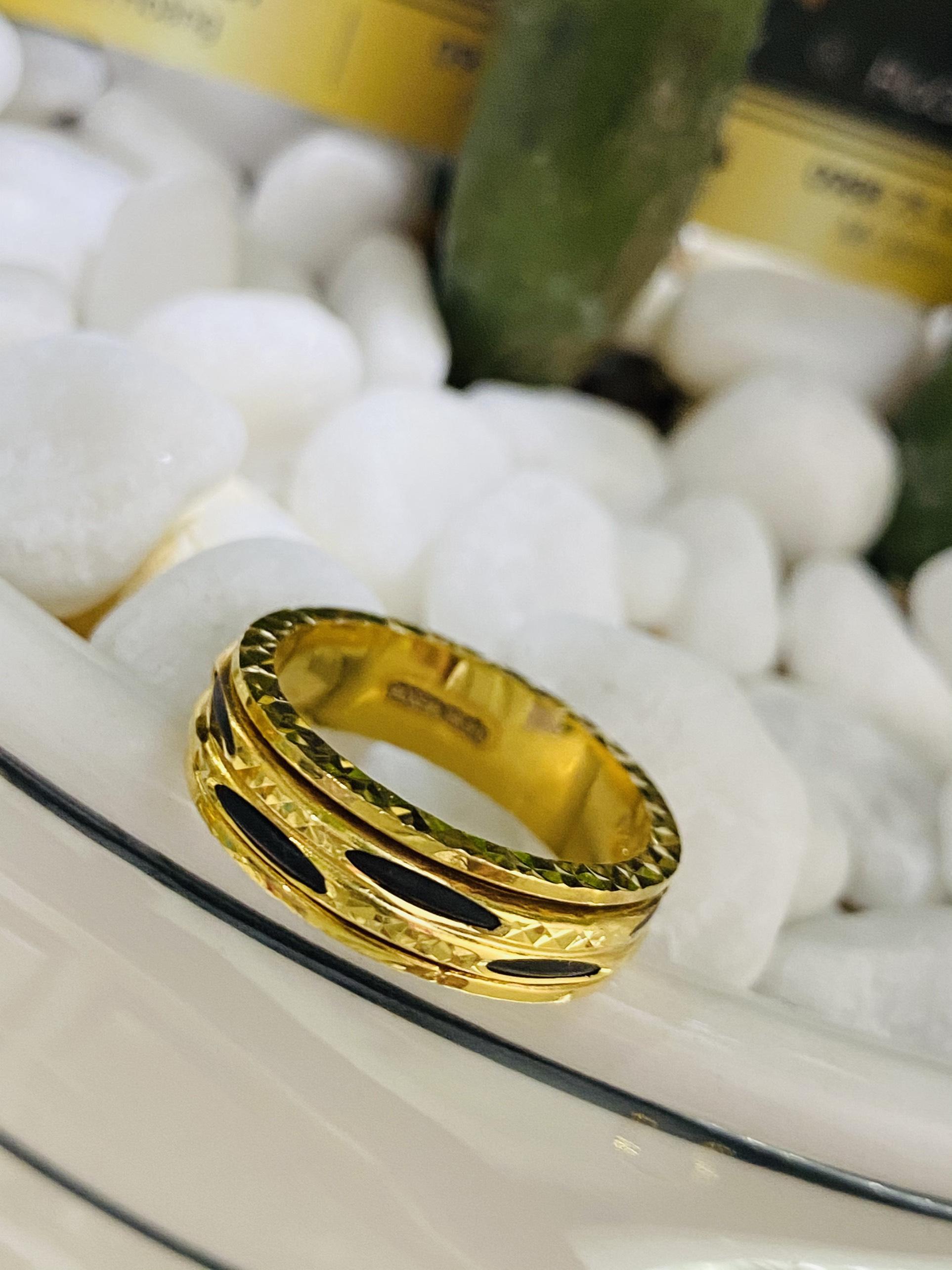Nhẫn Lông Voi xoay luồng 2 sợi hợp mệnh thủy