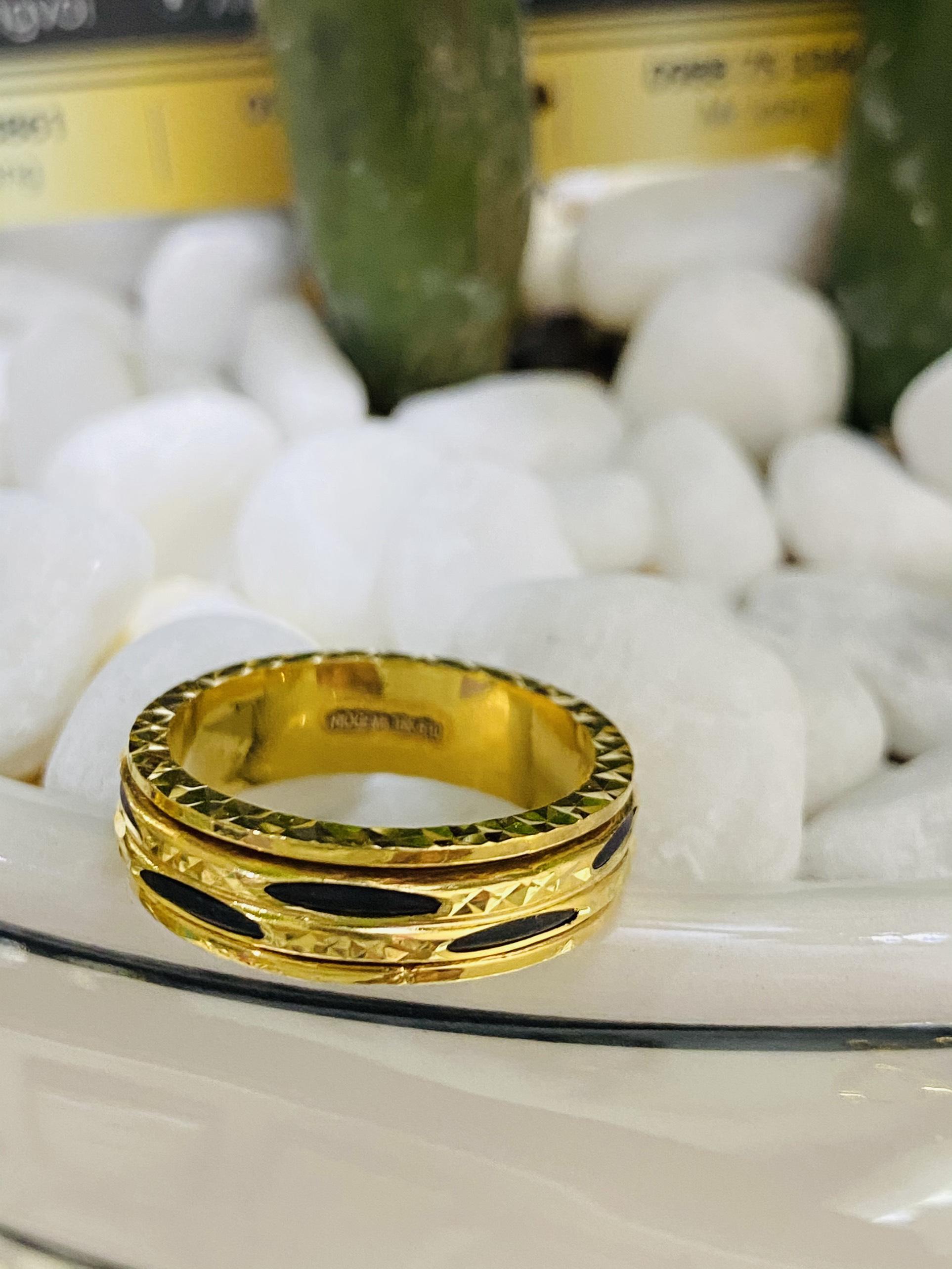 Nhẫn Lông Voi xoay luồng 2 sợi hợp mệnh kim