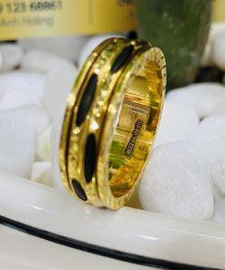 Nhẫn Lông Voi xoay luồng 2 sợi phong thủy