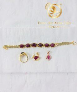 Bộ lắc tay Ruby vàng phong thủy nữ