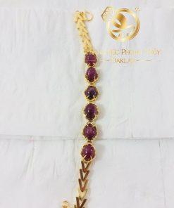 Bộ lắc tay Ruby vàng phong thủy dành cho nữ