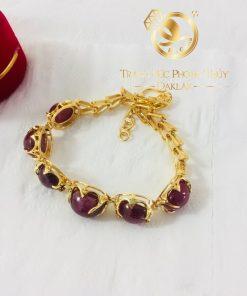 Bộ lắc tay Ruby vàng phong thủy