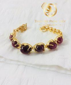 Bộ lắc tay Ruby vàng phong thủy nữ đẹp mắt