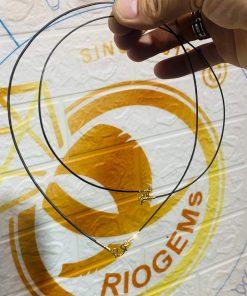 Dây chuyền 1 sợi lông voi bọc vàng 18K chất lượng