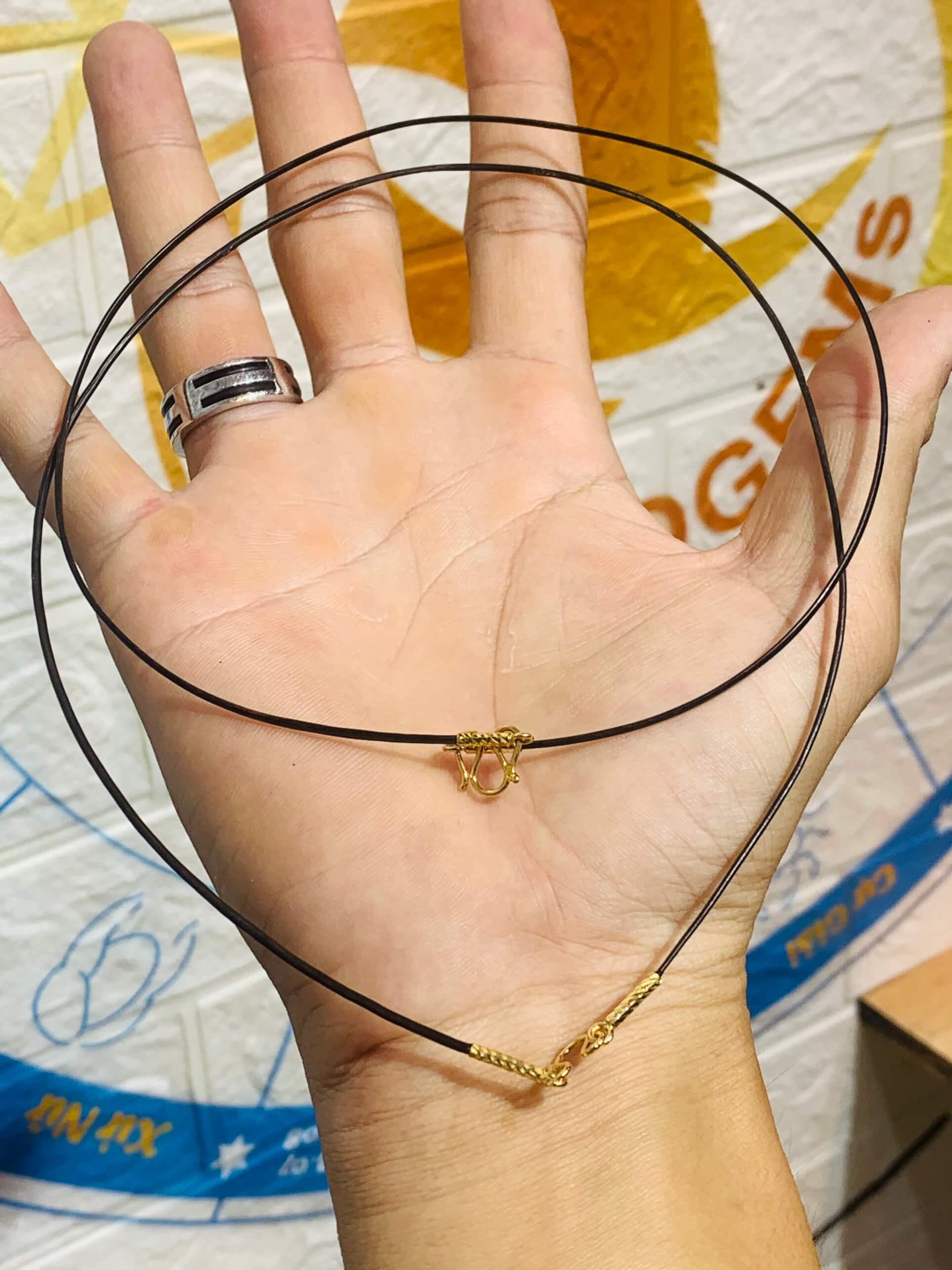 Dây chuyền 1 sợi lông voi bọc vàng hợp mệnh
