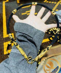 Dây chuyền lông voi bọc vàng đẹp và chất lượng