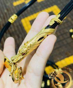 Dây chuyền lông voi bọc vàng đẹp siêu chất