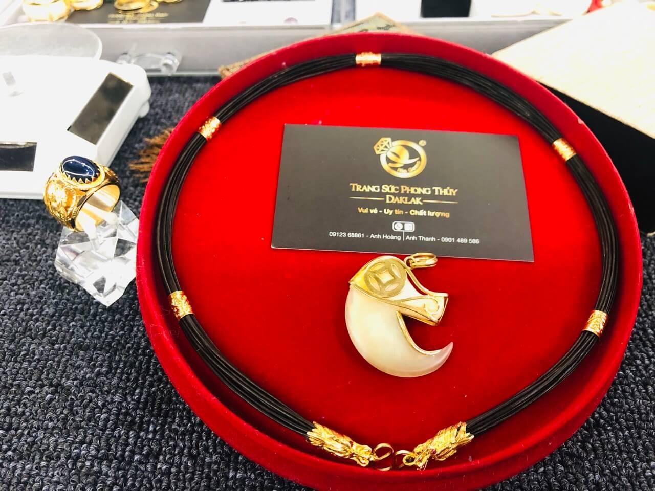 Dây chuyền lông voi (cỡ vừa) đẹp và lạ