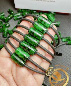 Lắc tay đốt ngọc Jade vàng phong thủy