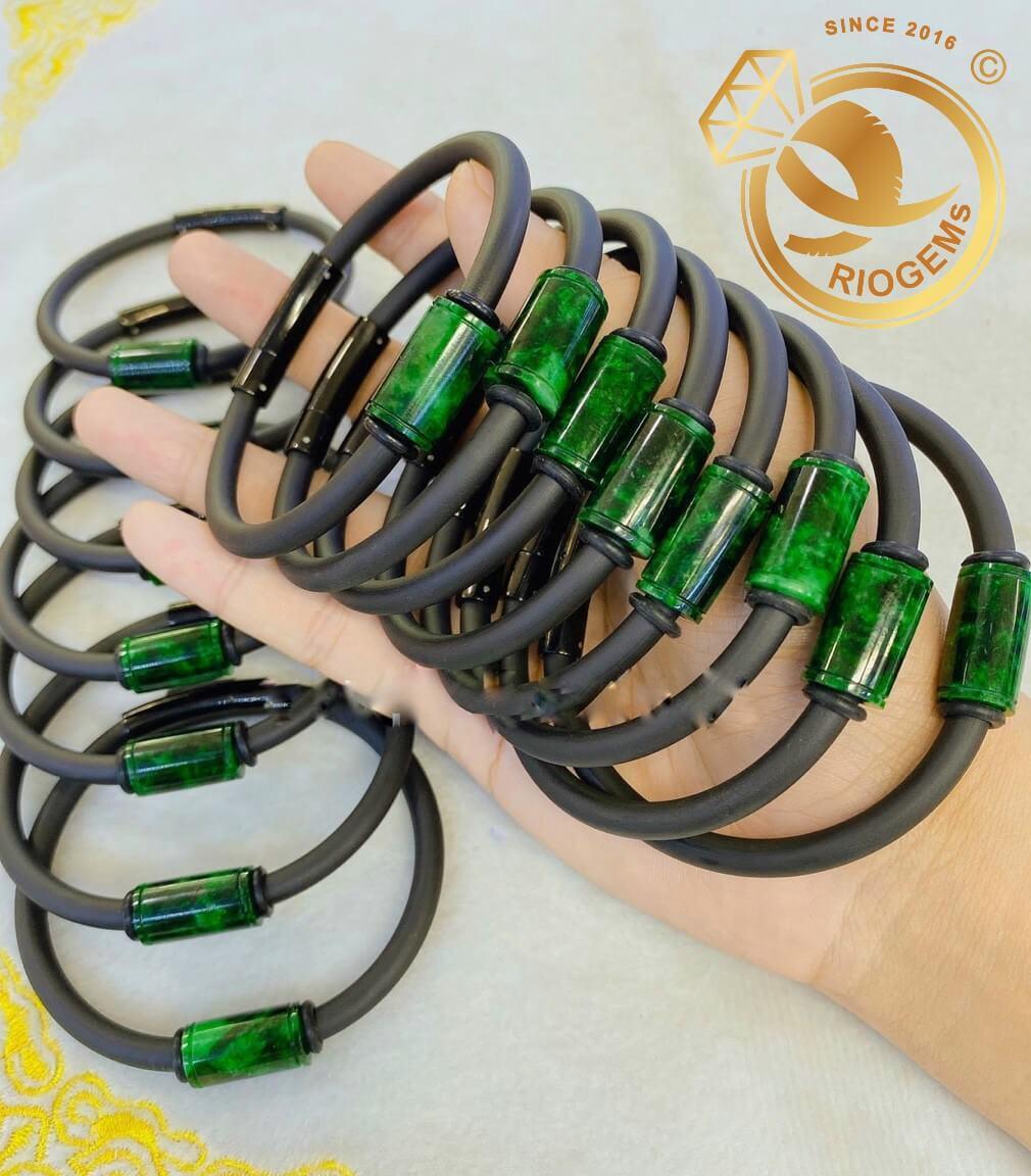Lắc tay đốt ngọc Jade vàng chất lượng