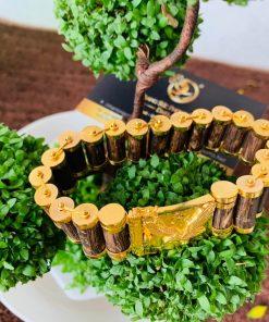 Lắc tay mắc xích trầm hương phong thủy đẹp