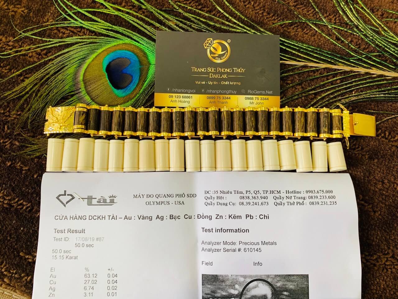 Lắc tay mắc xích trầm hương có giấy chứng nhận hàng chất lượng