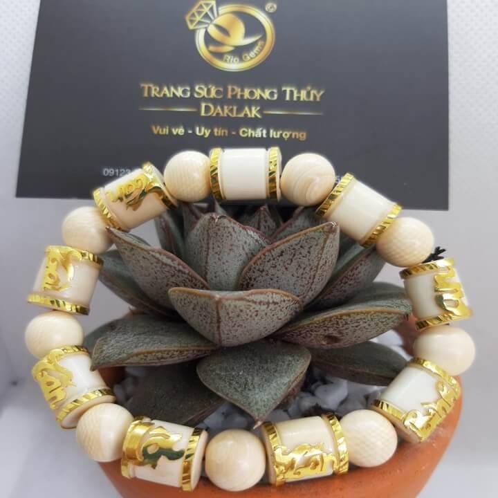 Lắc tay phong thủy khúc trúc mix vàng