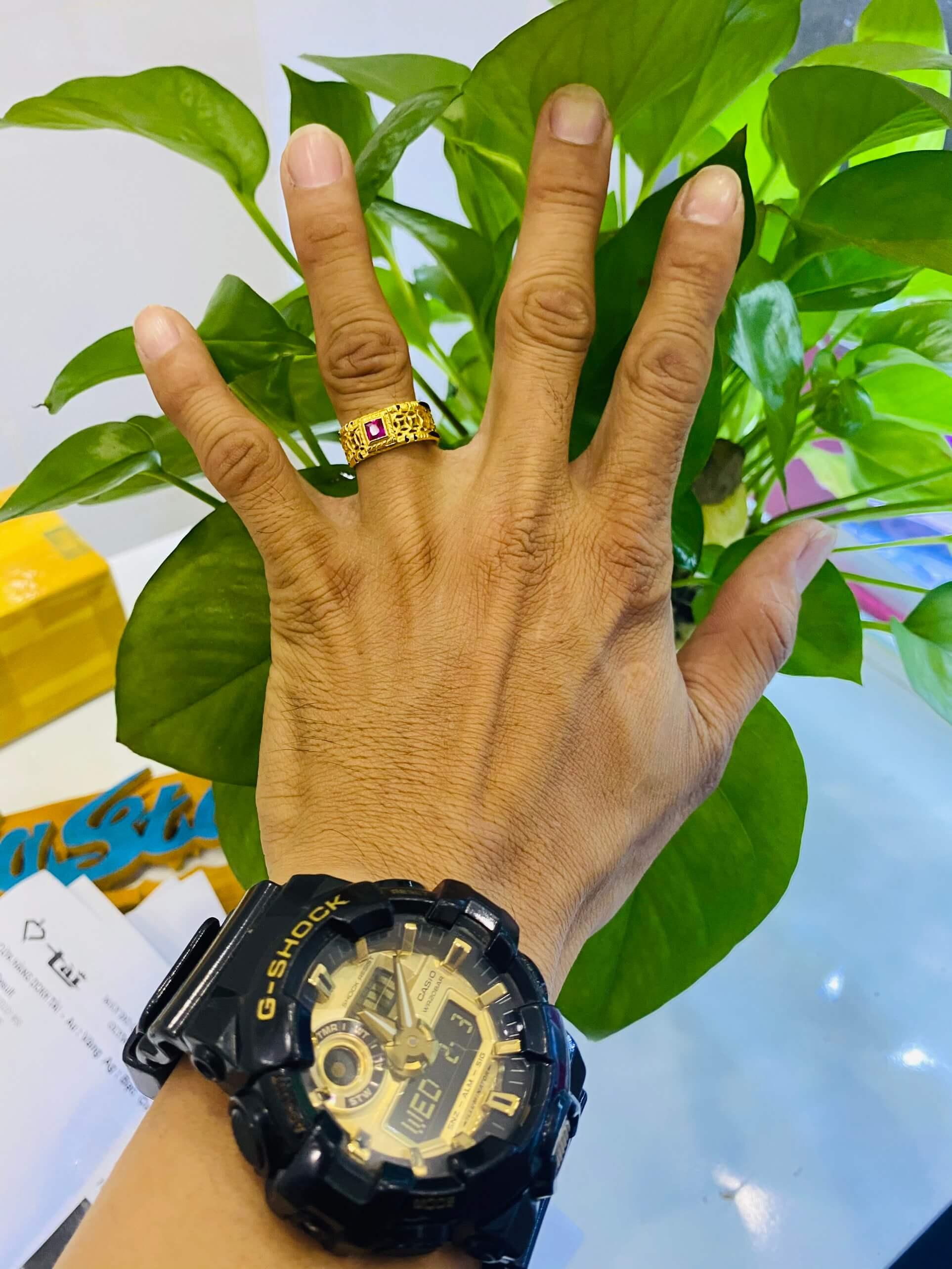 Nhẫn kim tiền mặt đá Cz chất lượng và giá trị