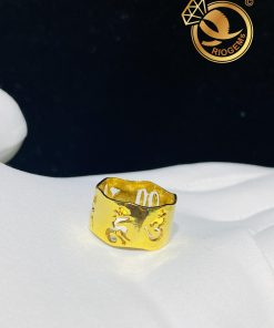 Nhẫn Vàng Thần Chú Om Mani Padme Hum hợp mệnh