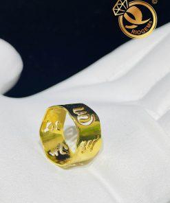 Nhẫn Vàng Thần Chú Om Mani Padme Hum hợp mệnh kim