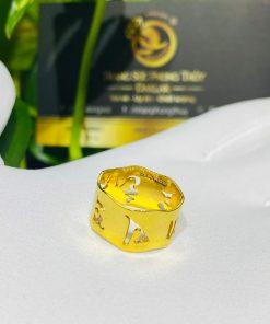 Nhẫn Vàng Thần Chú Om Mani Padme Hum hợp mệnh thủy