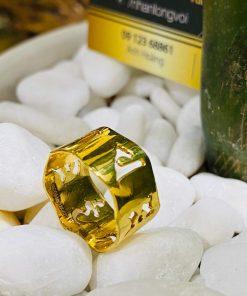 Nhẫn Vàng Thần Chú Om Mani Padme Hum hợp mệnh thổ