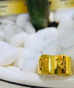 Nhẫn Vàng Thần Chú Om Mani Padme Hum hợp mệnh hỏa