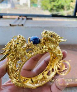 Vòng tay 2 Rồng vàng khủng Sapphire