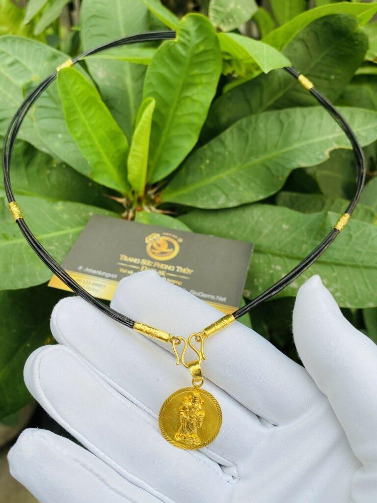 Dây chuyền vàng nam 9999 hình THẦN TÀI chiêu tài