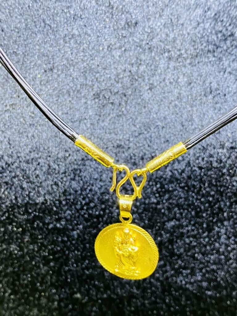 Dây chuyền vàng nam 9999 hình THẦN TÀI may mắn