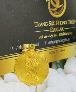 Dây chuyền vàng nam 9999 hình THẦN TÀI 6 đốt vàng cực chất