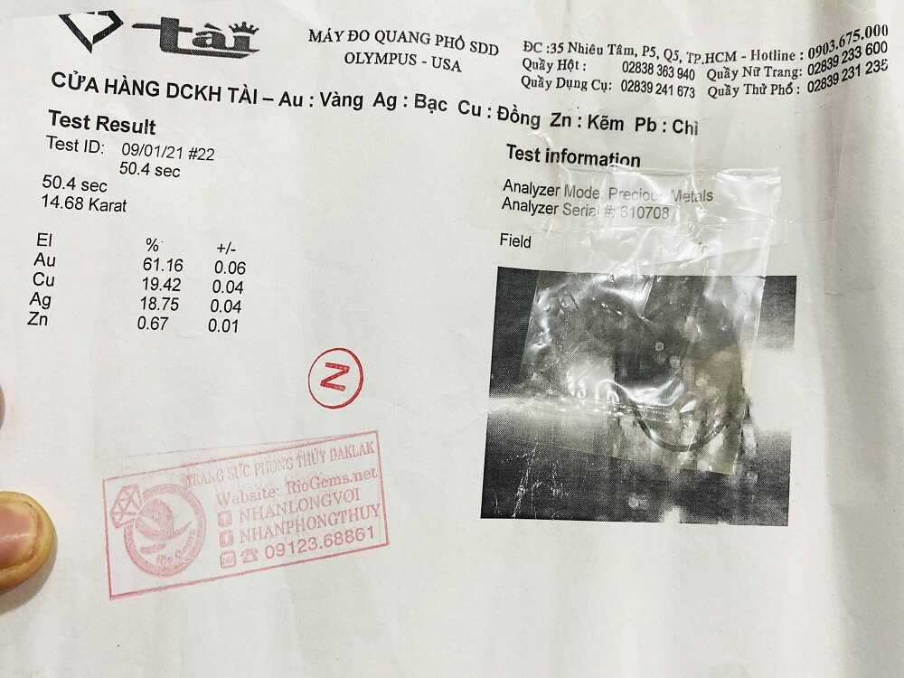 giay pho vang 18k6100 cua nhan chu van 2 duong long voi 1