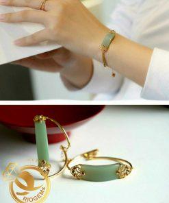 Lắc tay Ngọc Lam Phỉ Thúy cho nữ - Sự kết hợp tuyệt vời