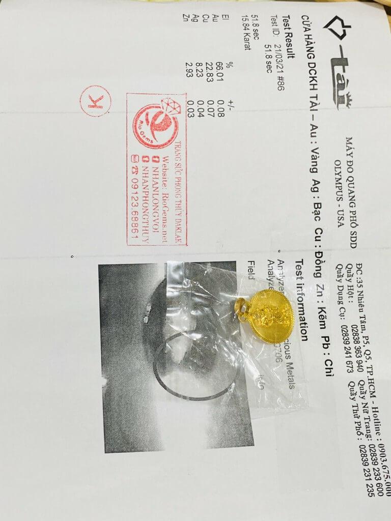 Dây chuyền vàng nam 9999 hình THẦN TÀI phát tài