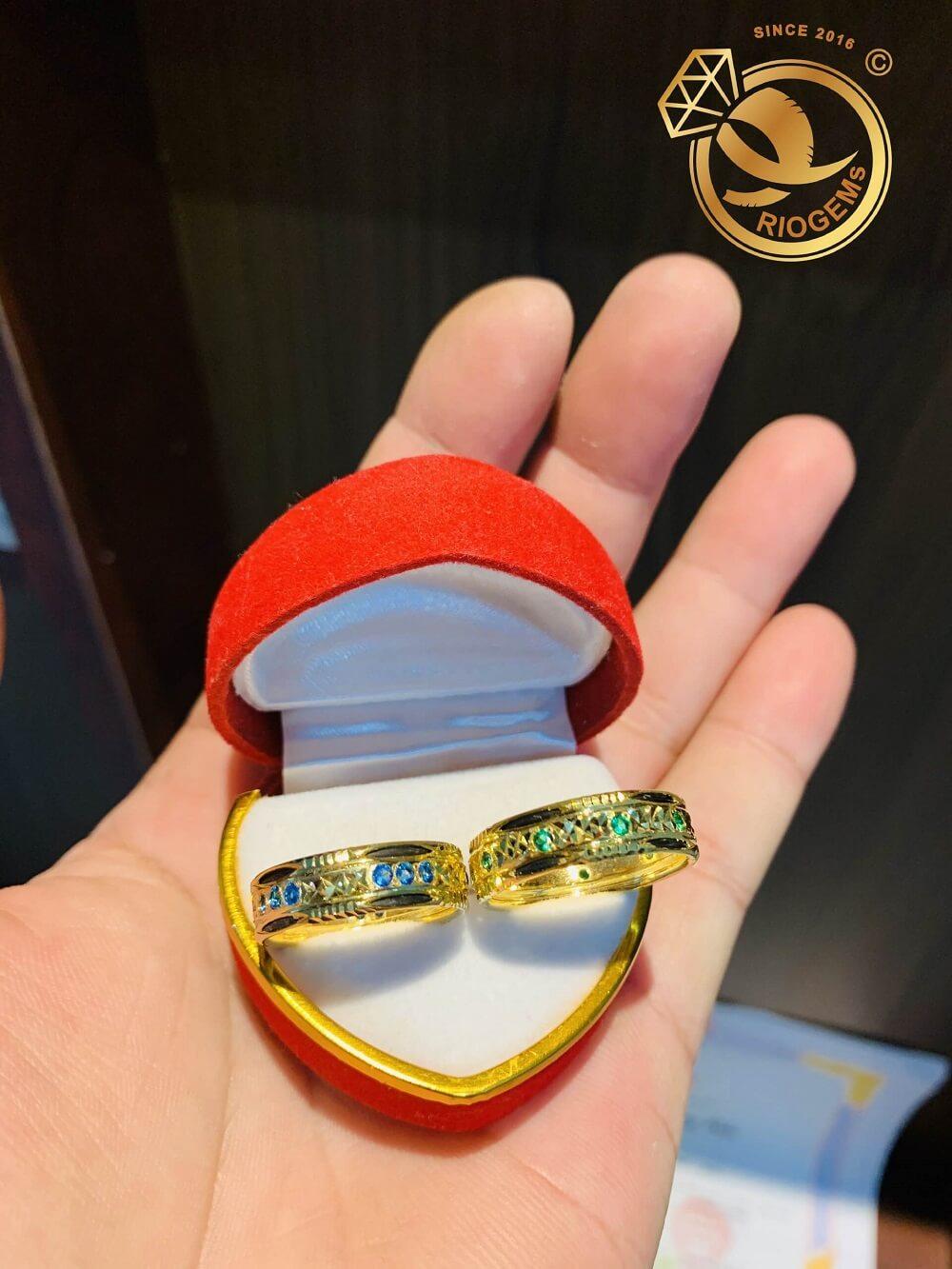 Cặp nhẫn vàng nam nữ phong thủy