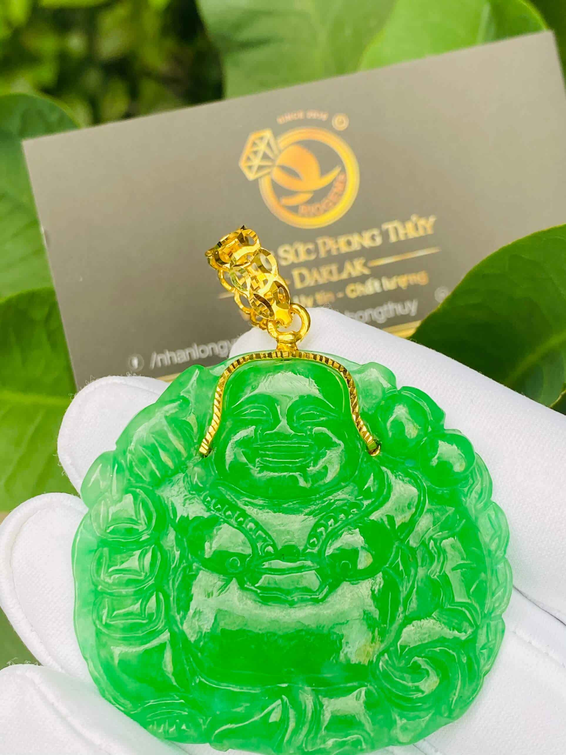 Mặt Phật Di Lặc ngọc Jadeite (Ngọc Cẩm Thạch)