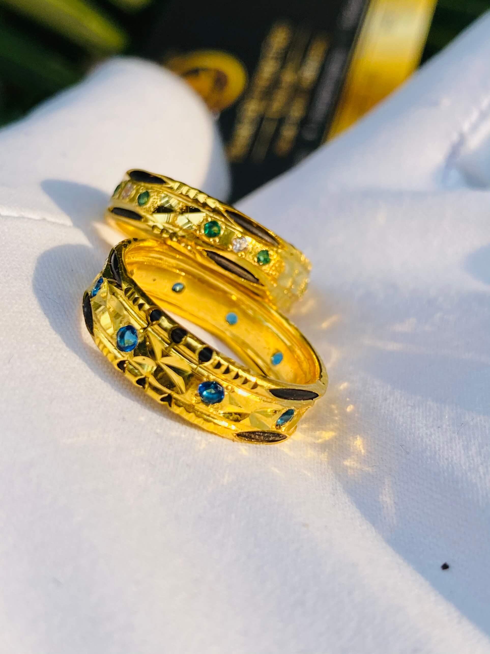Cặp nhẫn cưới nam nữ phong thủy được gia công tinh xảo