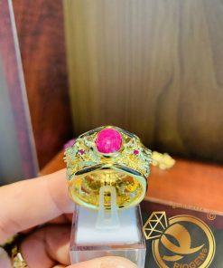 Nhẫn 2 Rồng 3D chầu ngọc chạm trổ điệu nghệ