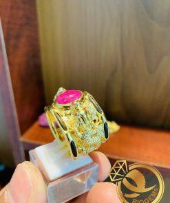 Nhẫn 2 Rồng 3D chầu ngọc gia công tỉ mỉ