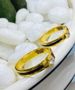 nhẫn cặp đẹp vàng 18k