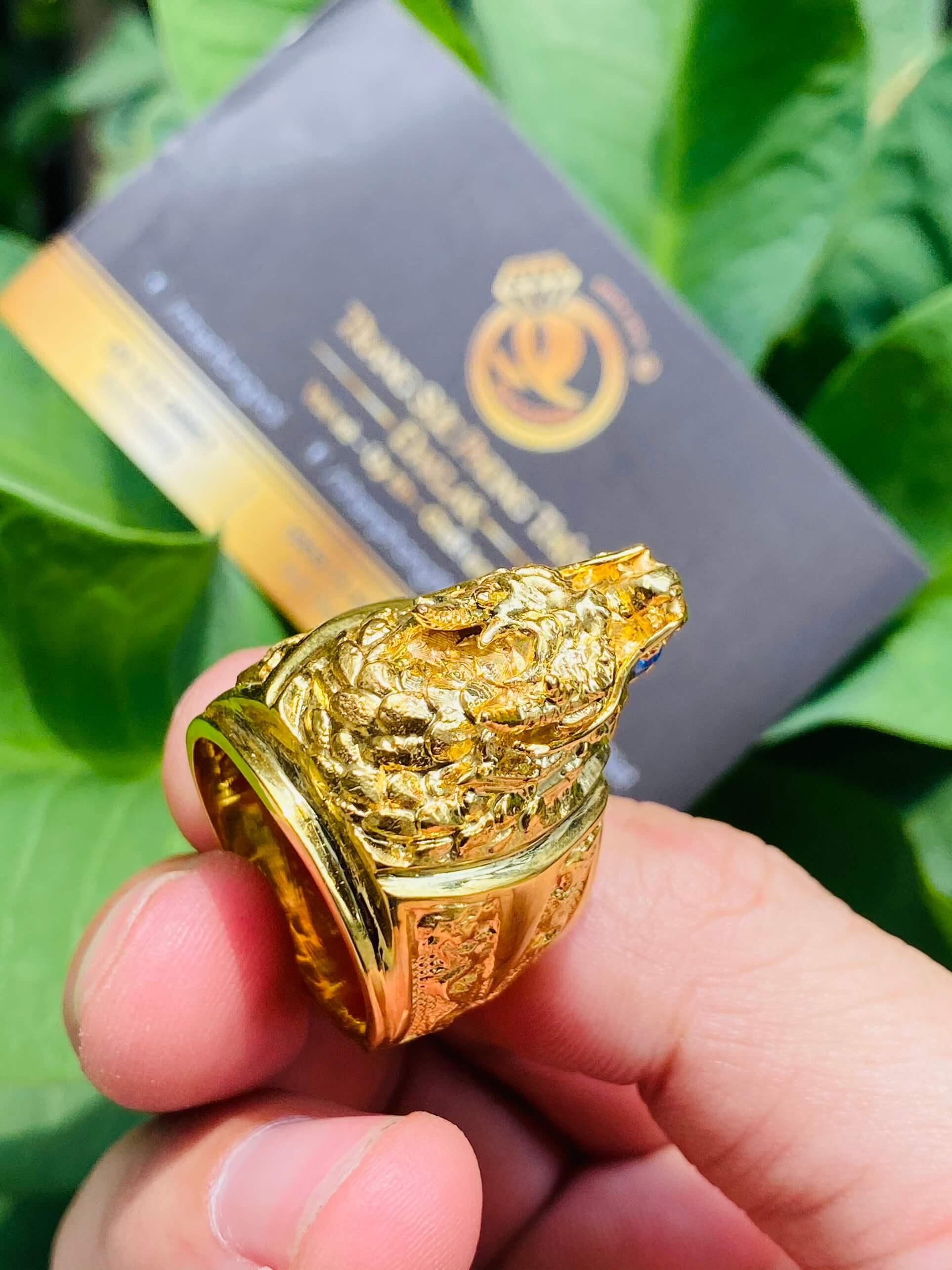 Nhẫn đầu rồng vàng dành cho nam