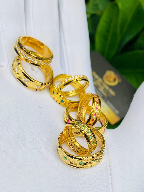 Các mẫu nhẫn đính đá Cz hợp MỆNH vàng 18K luồng lông Bôn Đôn (lông FAKE) chất