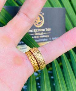 Nhẫn hoa văn 3d vàng 18k cho nam nữ