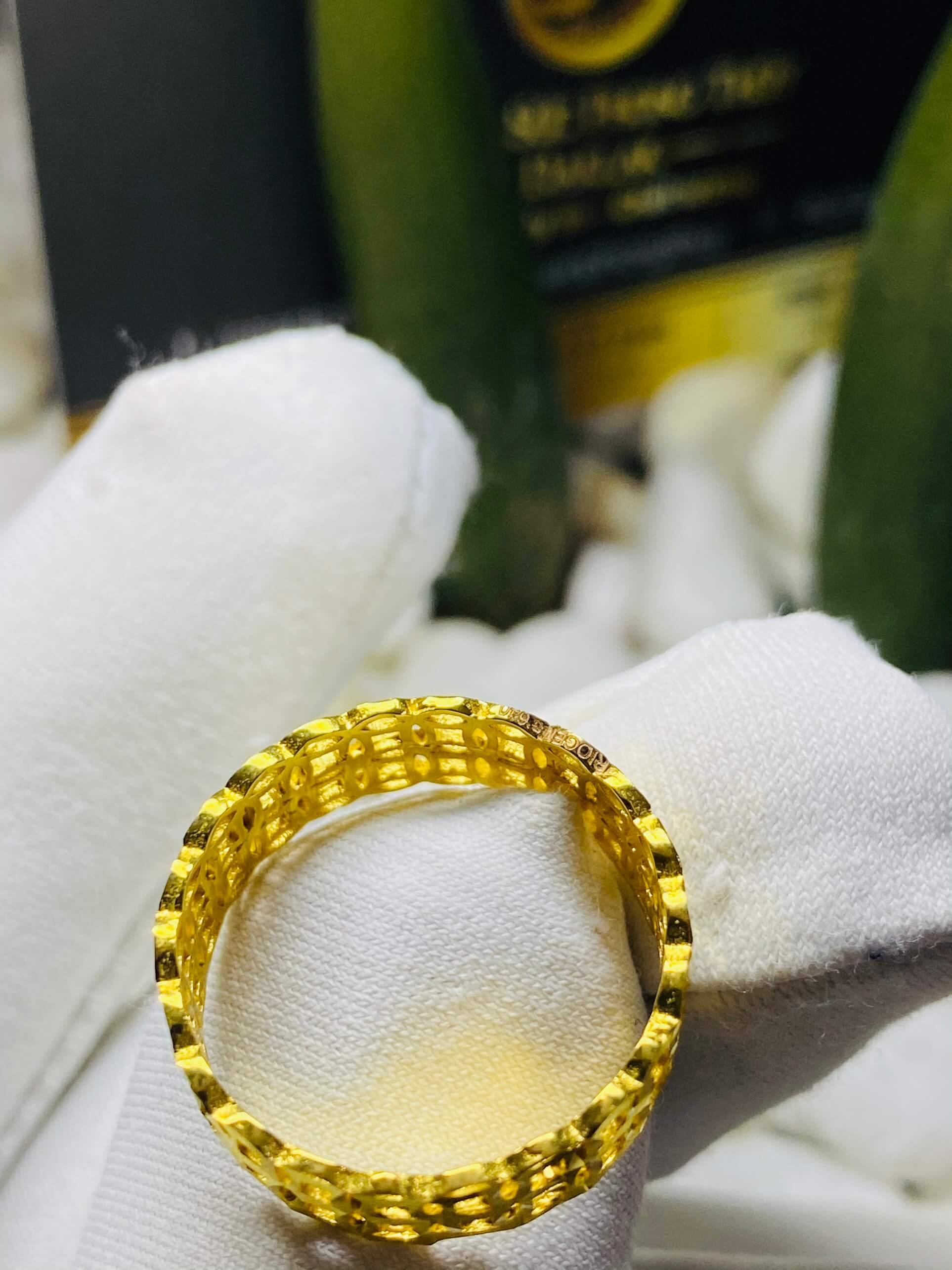 nhẫn kim tiền vàng kép 18K hợp với các mệnh