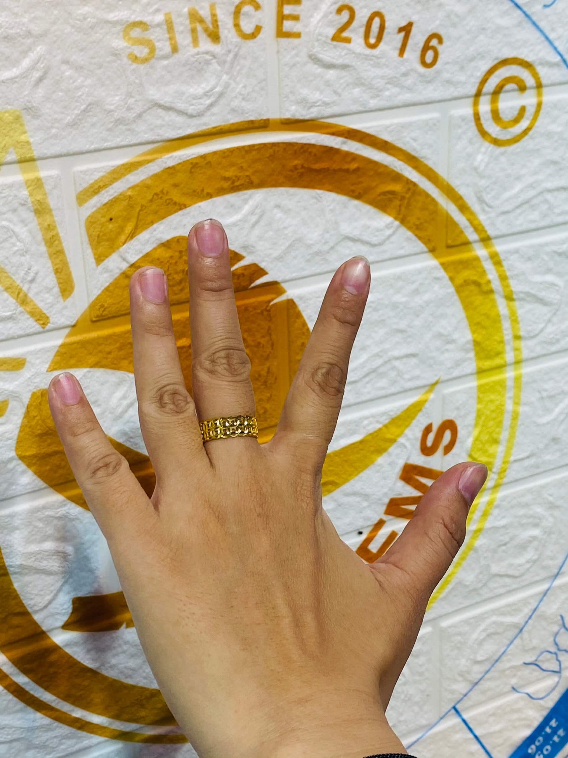 nhẫn kim tiền vàng cho nữ