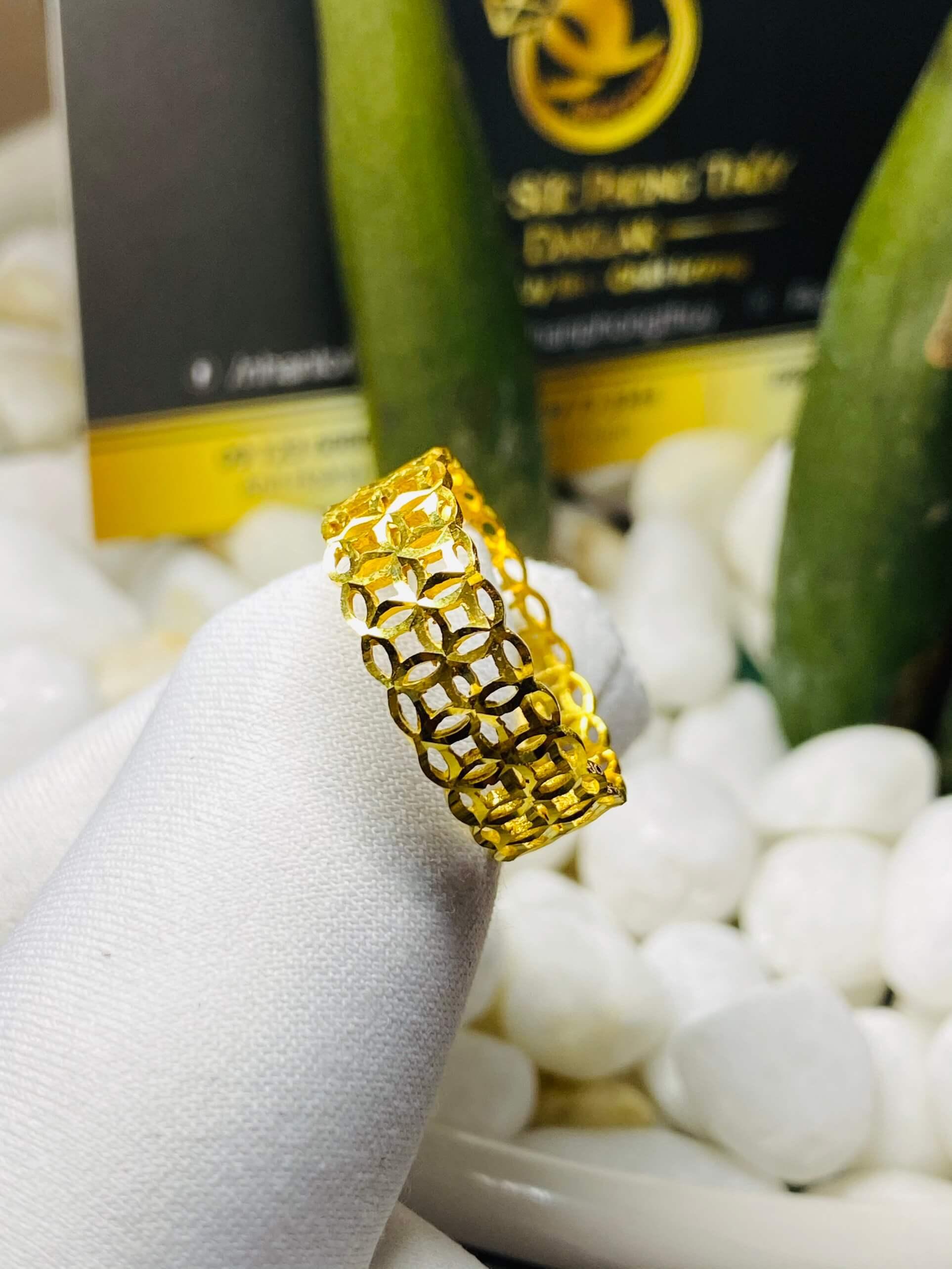 nhẫn kim tiền vàng 18K chất lượng