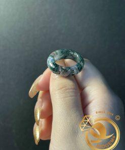 Nhẫn Ngọc thủy tảo hợp mệnh Mộc - Hỏa phong thủy giá tốt